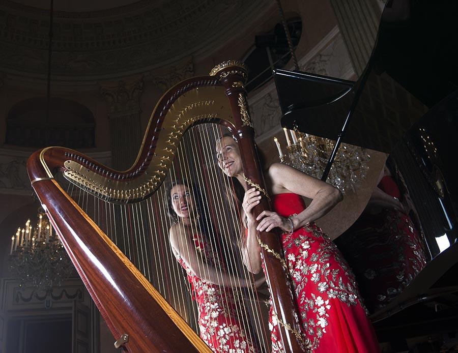 Duo Praxedis mit Harfe und Klavier